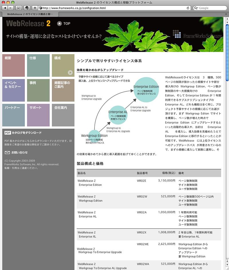 WebRelease2 ウェブサイト